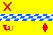 De mogelijke nieuwe vlag van de gemeente Woerden